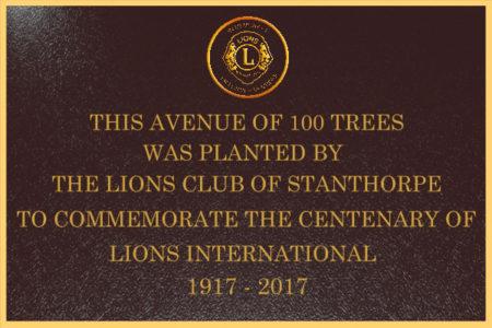 Bronze 600x400 LIONS 100 TREES